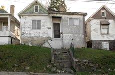 Run-down housing in Fairmont, West Virginia