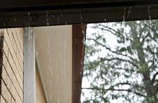 Blocked gutters in a storm
