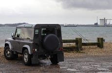 Land rover by bay