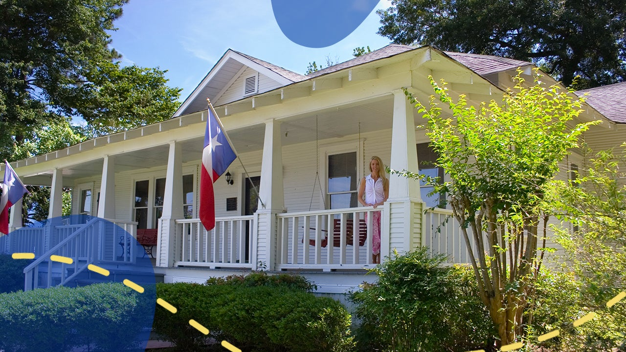 Homes in Houston, Texas with illustration