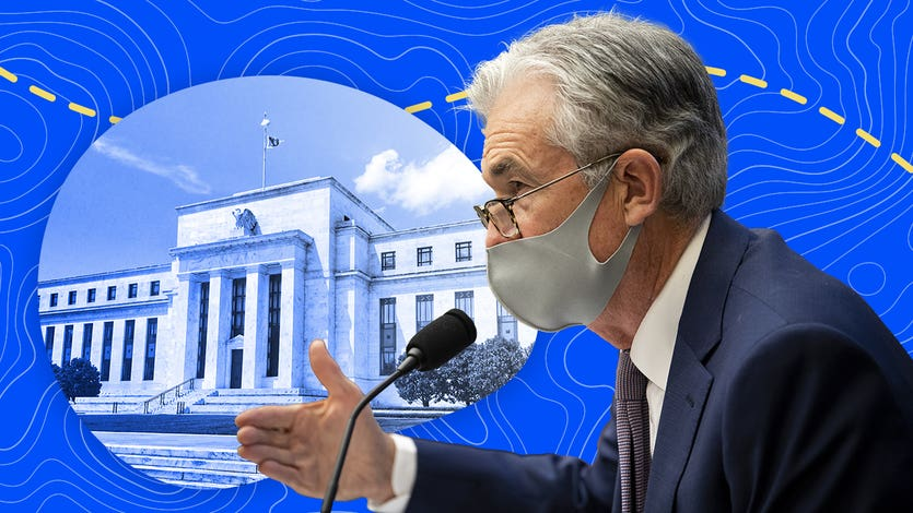 Federal Reserve Chairman Jerome Powell illustration