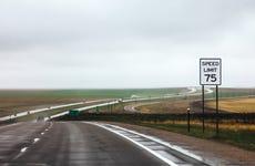 On the road Kansas to Colorado
