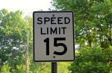 Speed limit sign in park