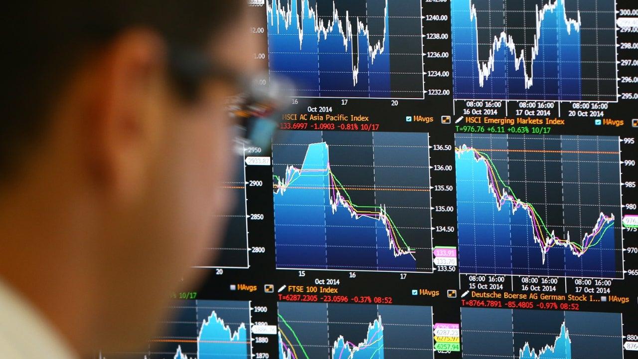 Stock trading screens