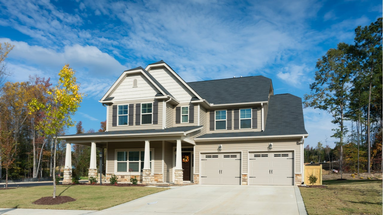 A single-family home in suburban Raleigh, North Carolina