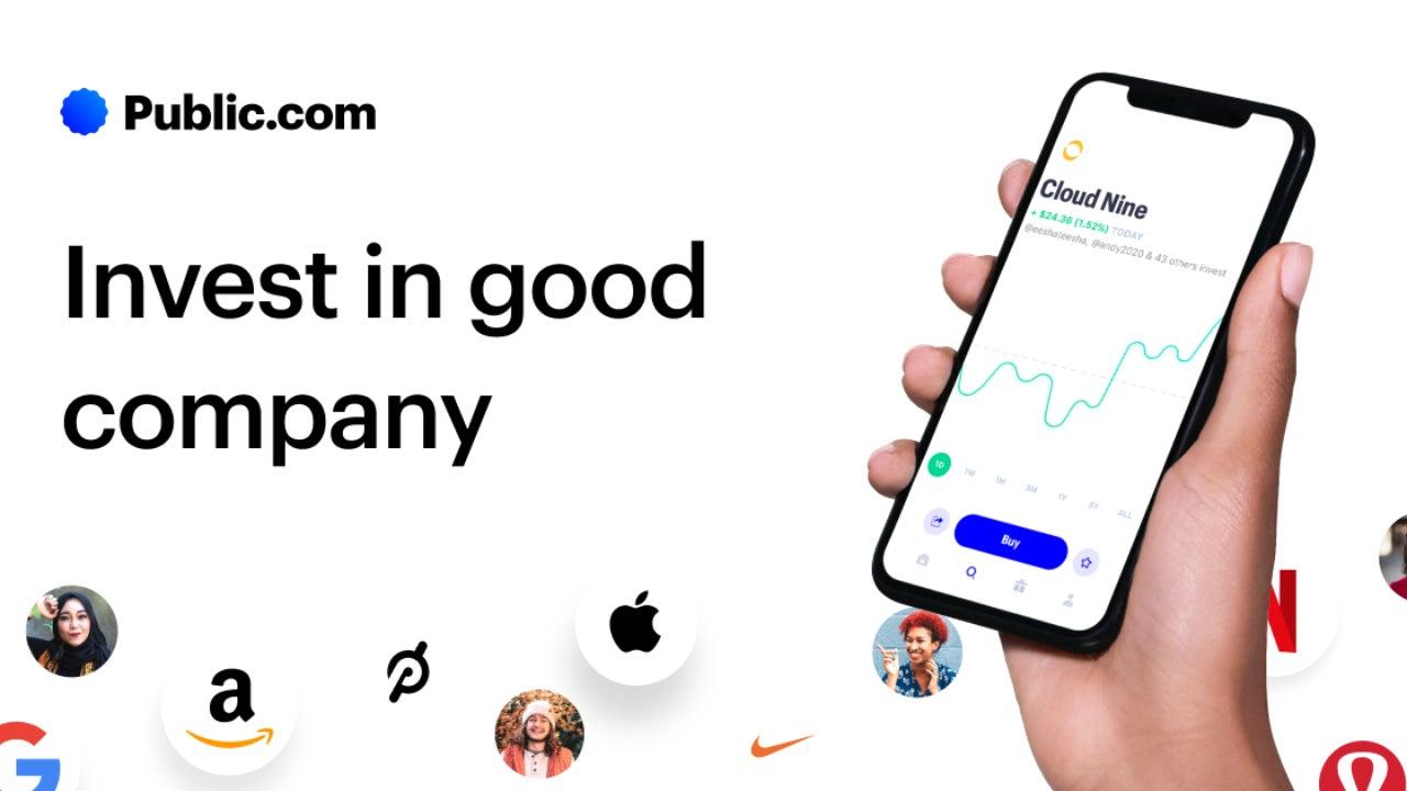A screenshot of the Public app