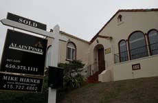 home with sold sign