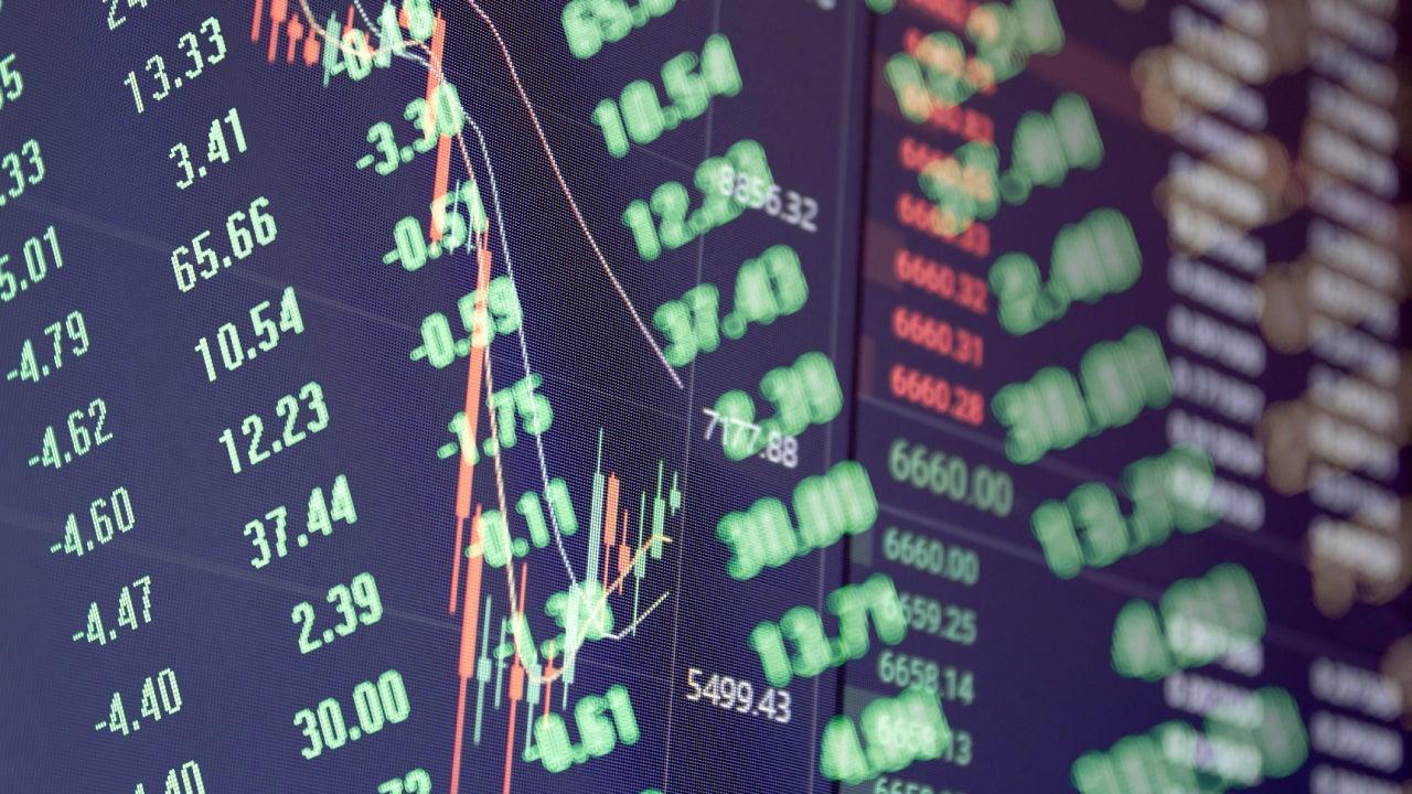 Stock / Bitcoin Falling Concept