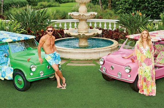 His and hers Lilly Pulitzer runabout buggies | Courtesy of Neiman Marcus