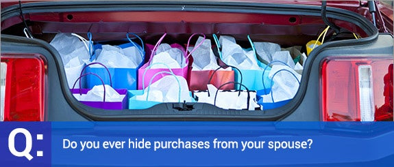 Do you ever hide purchases from your spouse? © Derek Hatfield/Shutterstock.com