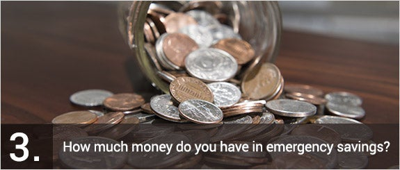 How much money do you have in emergency savings? © Jeff A. Moore/Shutterstock.com