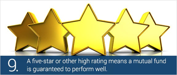 A five-star or other high rating means a mutual fund is guaranteed to perform well. © Mmaxer/Shutterstock.com