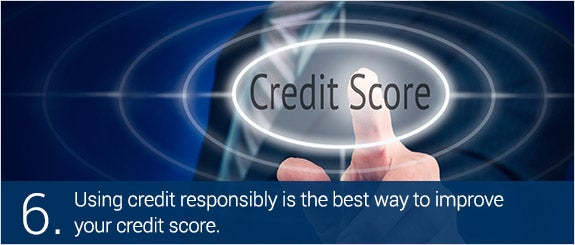 Using credit responsibly is the best way to improve your credit score. © Duncan Anderson/Shutterstock.com