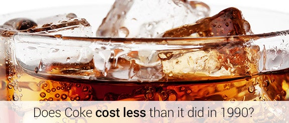 Does Coke cost less than it did in 1990? © Alexlukin/Shutterstock.com