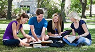 College students in group study outdoors © Tyler Olson - Fotolia.com