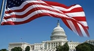 Flag flying over the Capitol © iStock